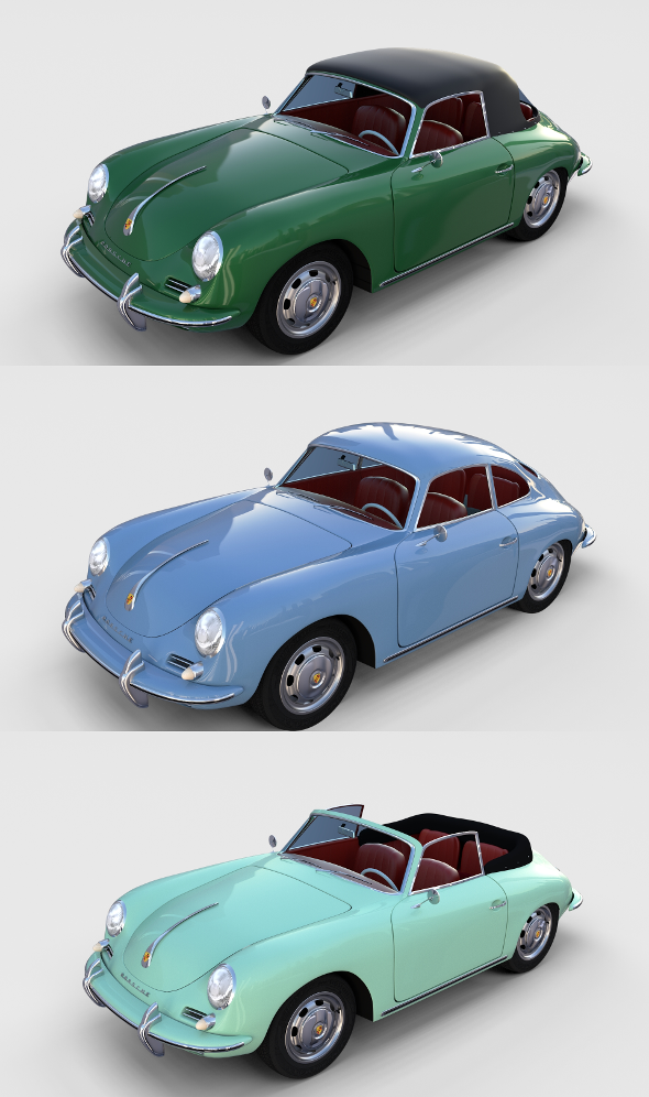 Porsche 356 with interior Pack - 3DOcean Item for Sale