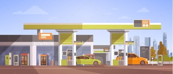 Car Fueling At Gas Petrol Station - Industries Business