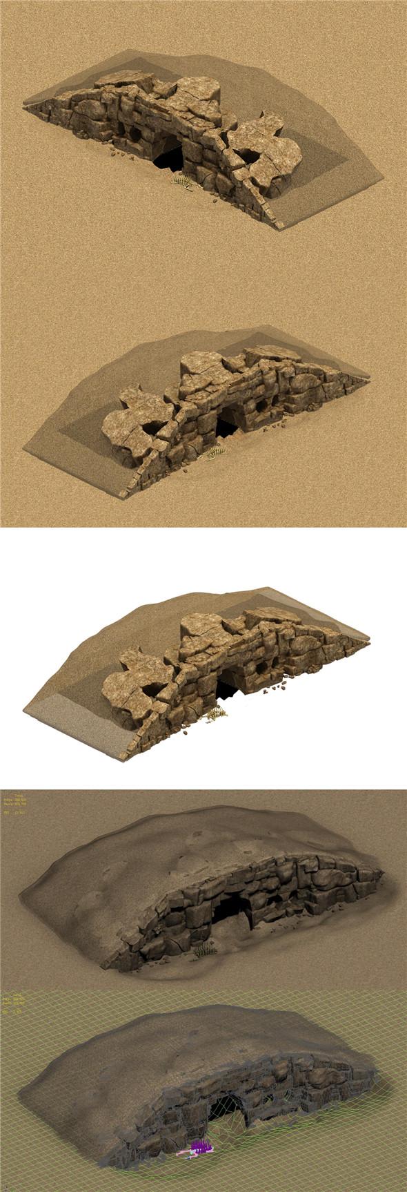 Desert - Monster Nest 3 - 3DOcean Item for Sale