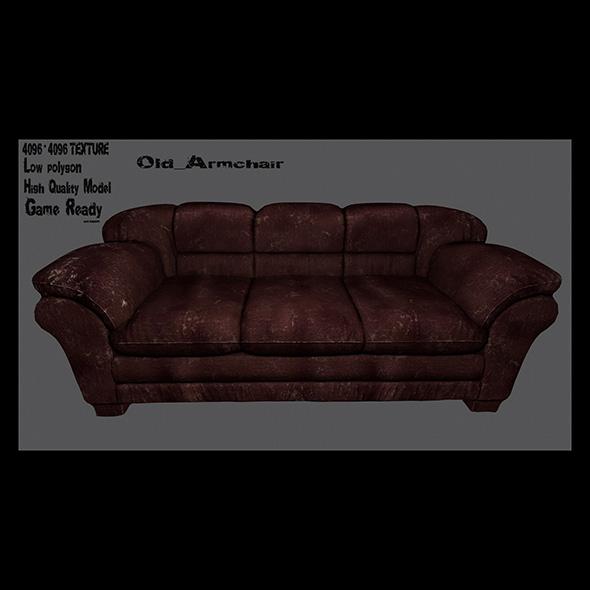 Armchair_9 - 3DOcean Item for Sale