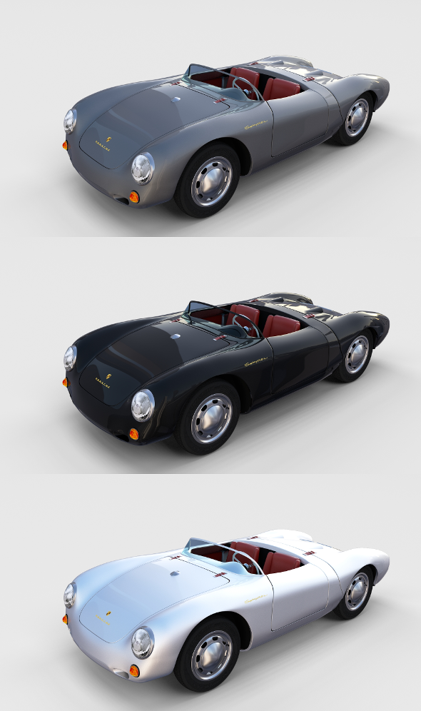 Porsche 550 Pack - 3DOcean Item for Sale