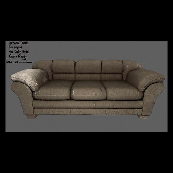 Armchair_12 - 3DOcean Item for Sale