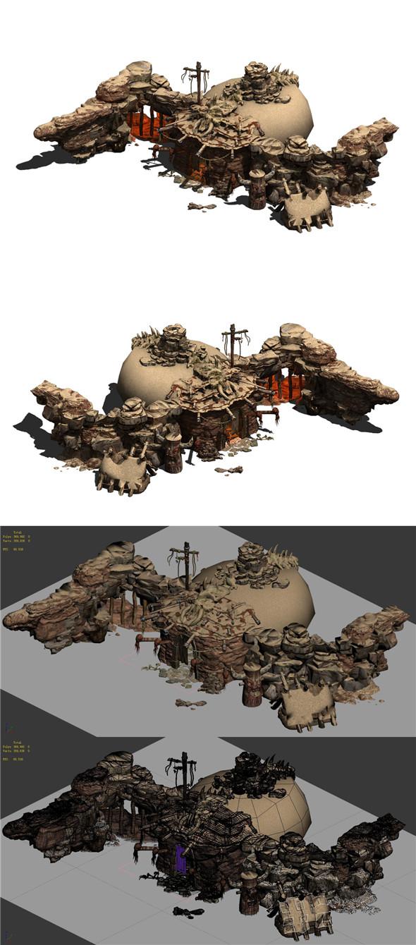 Desert - Monster Camp 02 - 3DOcean Item for Sale