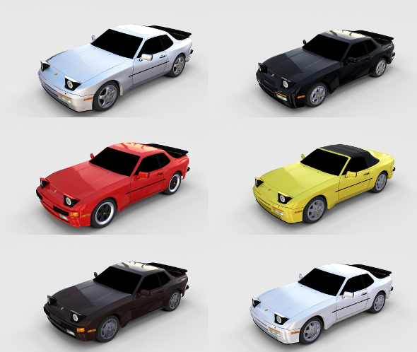 Porsche 944 Pack - 3DOcean Item for Sale