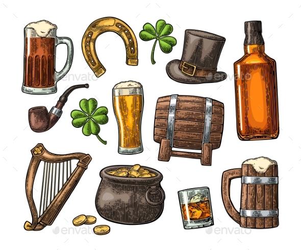 Saint Patrick Day Items - Miscellaneous Vectors