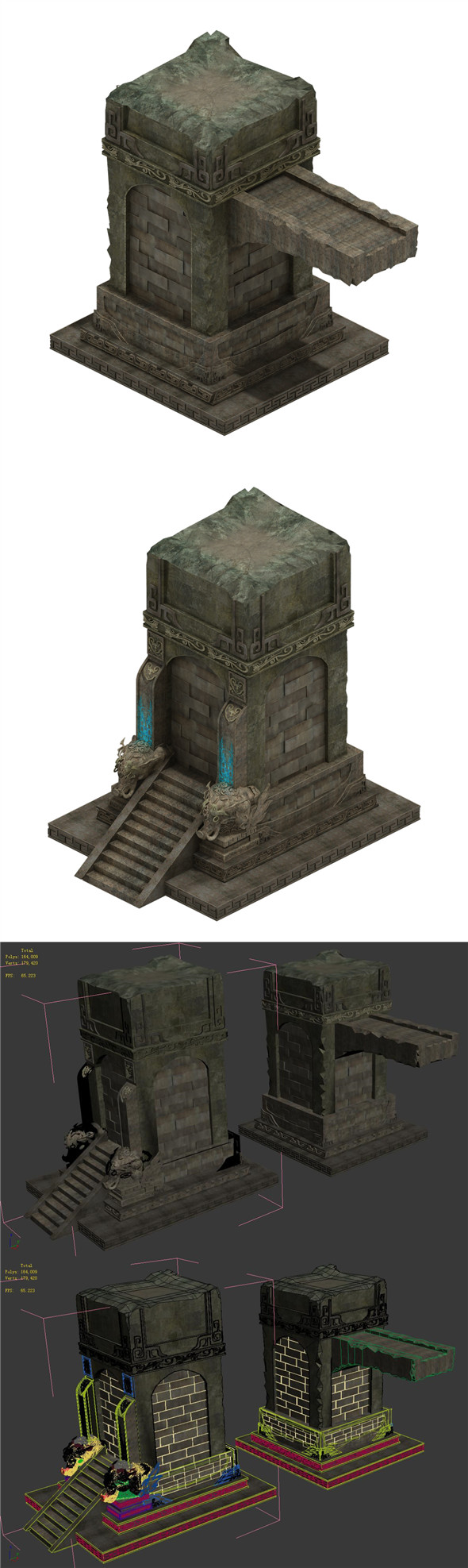 Desert ancient ruins - broken buildings - 3DOcean Item for Sale