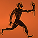 Ancient Greek Runners With Olympic Flame