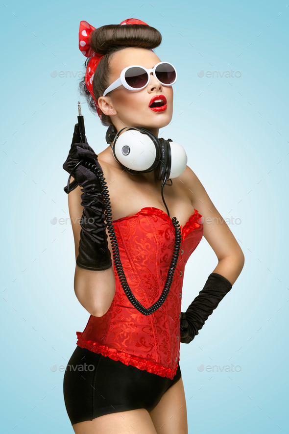 Pin-up party. - Stock Photo - Images