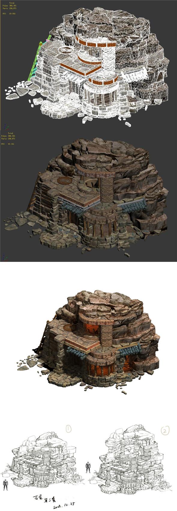 Desert - Stone House 02 - 3DOcean Item for Sale