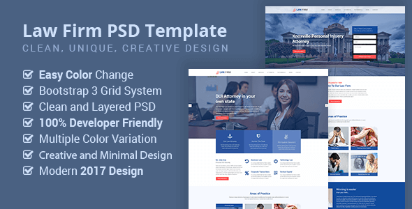 Law Firm, Lawyer, Business PSD Template