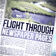 Flight Through Newspapers Pages - VideoHive Item for Sale