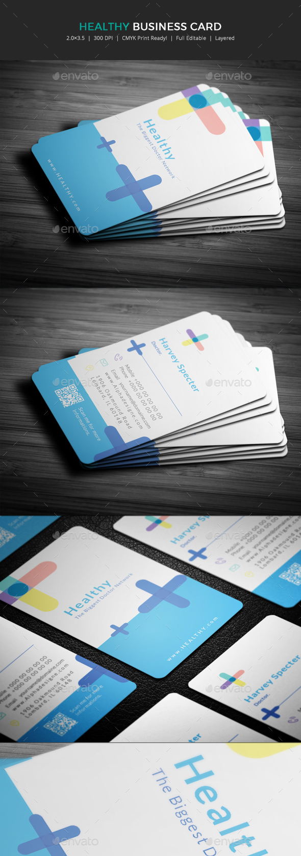 Healthy Doctor Business Card. - Corporate Business Cards
