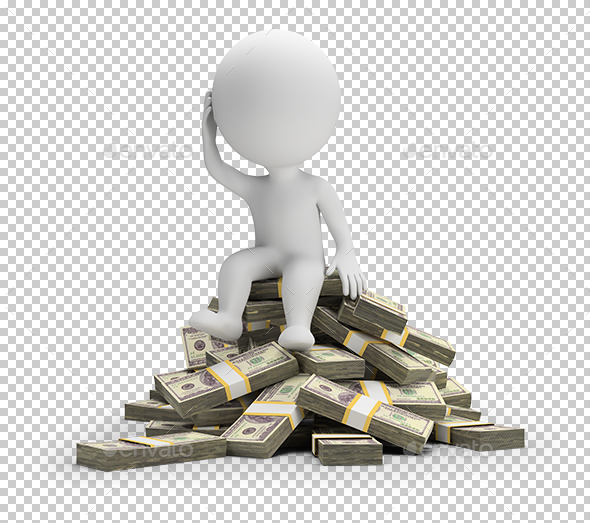 3D Small People - How to Spend Money - Characters 3D Renders