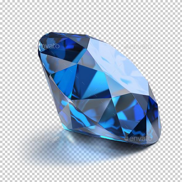 Sapphire - Objects 3D Renders