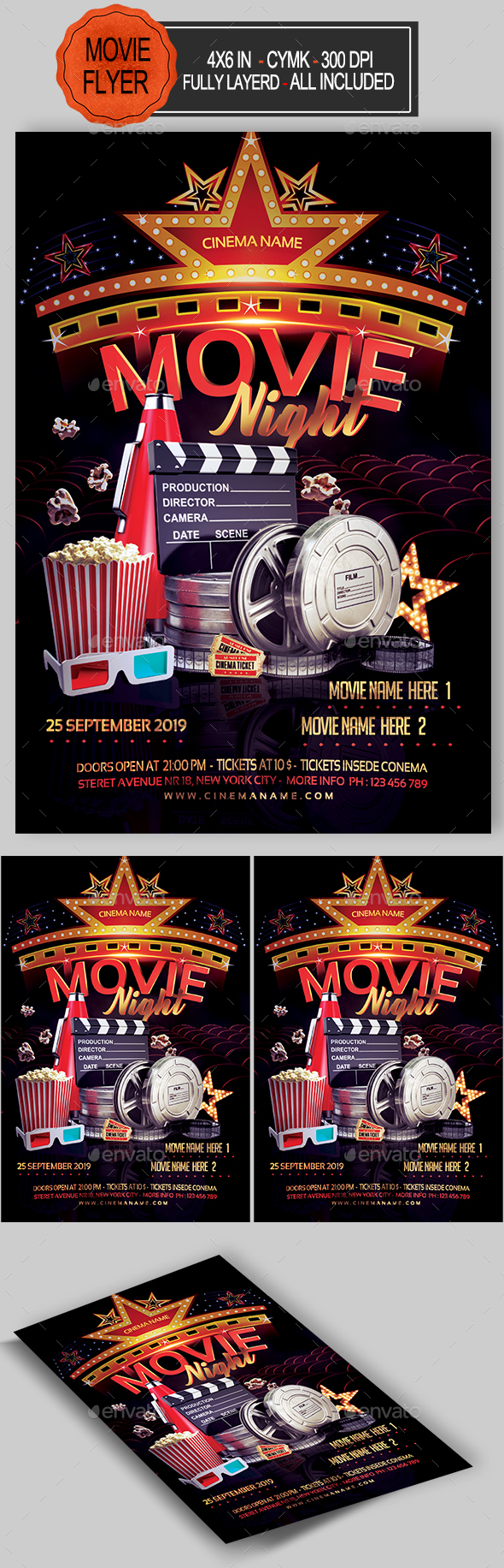 Movie Night Flyer - Events Flyers