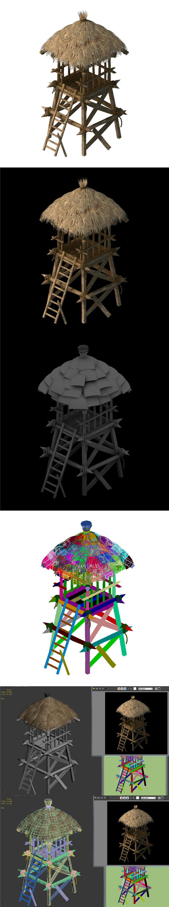 Cottage tribe - watchtower 01 - 3DOcean Item for Sale