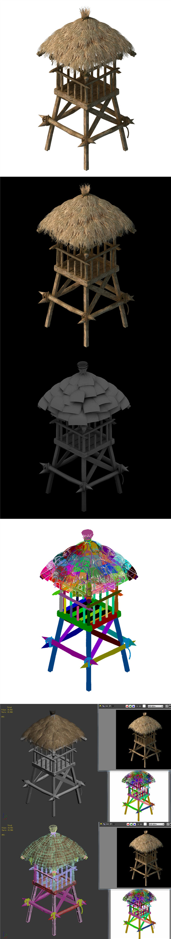 Cottage Tribe - Watchtower 02 - 3DOcean Item for Sale