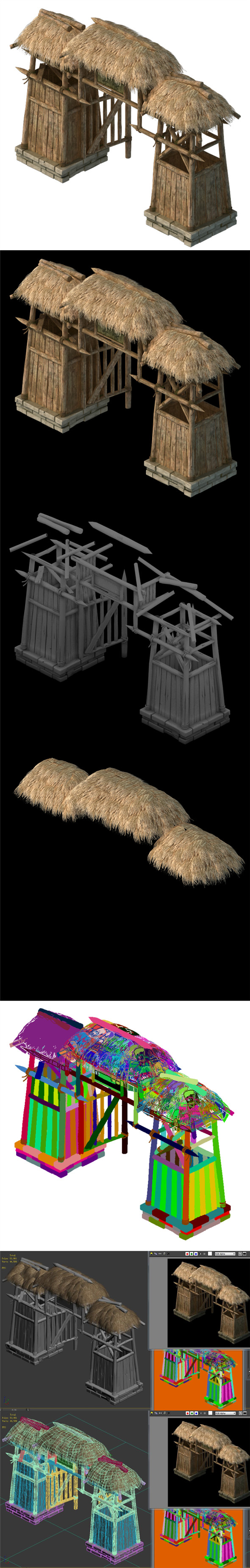 Cottage tribe - entrance arch 02 - 3DOcean Item for Sale