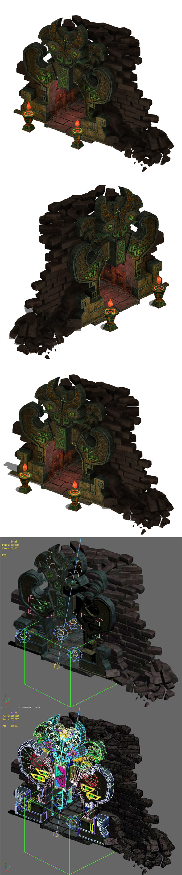 Ancient ruins - mountain entrance 01 - 3DOcean Item for Sale