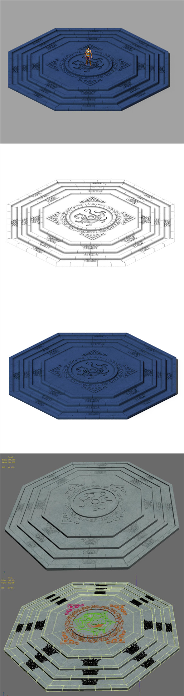 Stone chamber surface -02 - 3DOcean Item for Sale