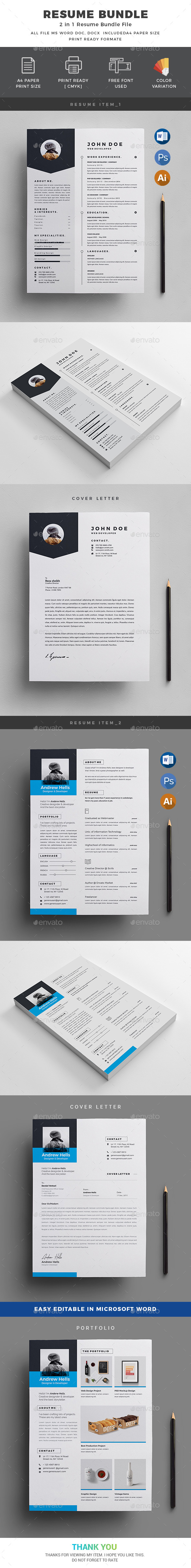 Resume Bundle_2 in 1 - Resumes Stationery