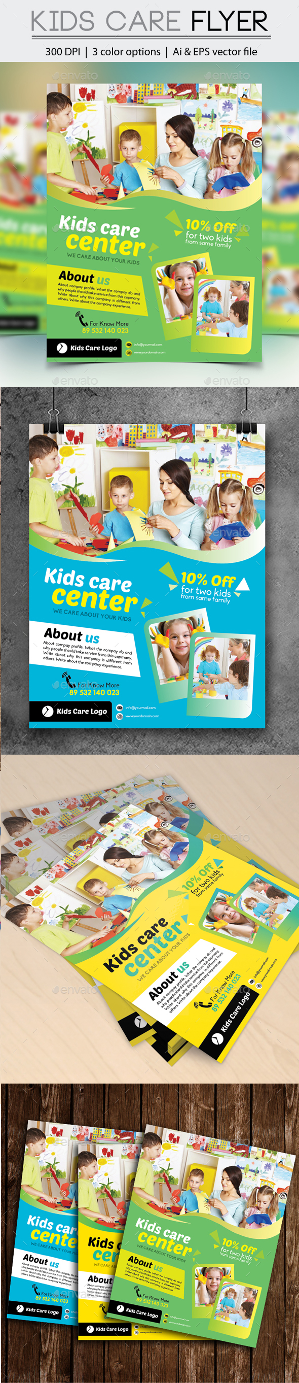 Kids Care Flyer - Commerce Flyers