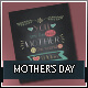 Typographic Mothers Day Greeting Cards - GraphicRiver Item for Sale