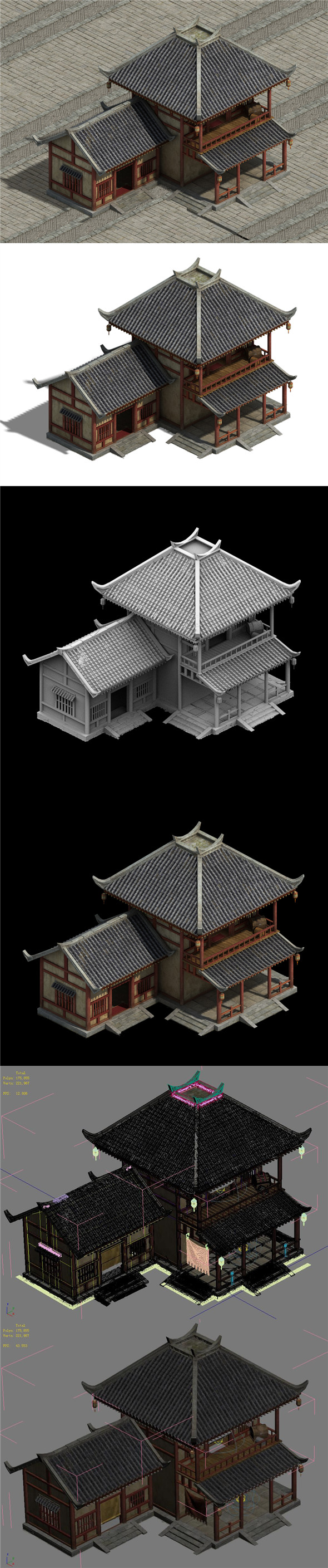 Wangcheng Escort - Building Small House - 3DOcean Item for Sale
