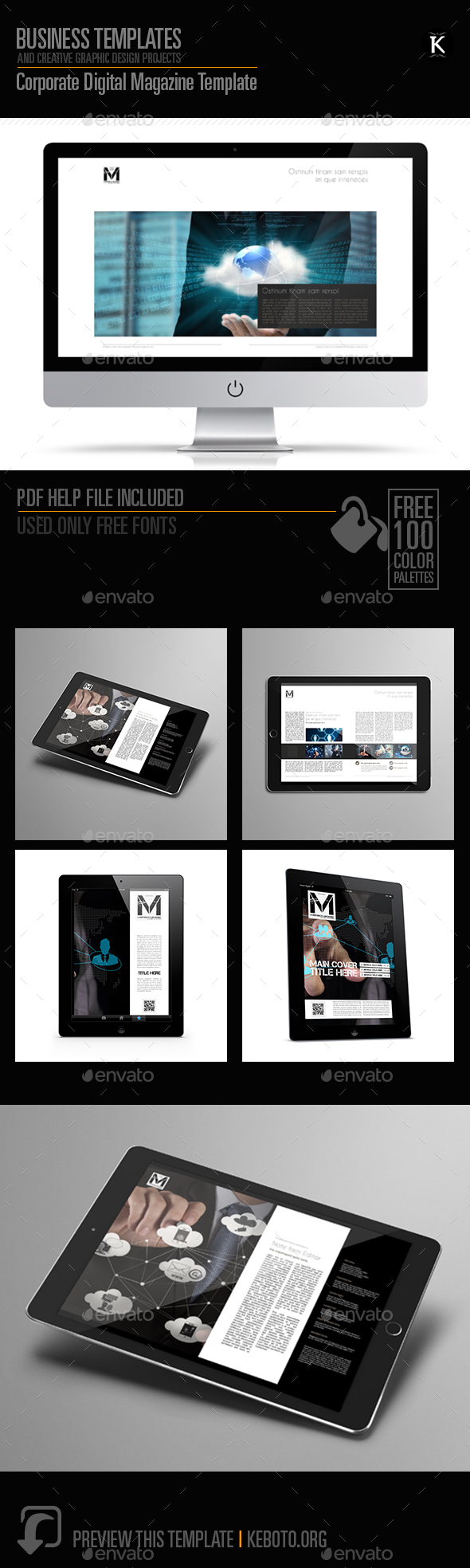 Corporate Digital Magazine Template - Digital Magazines ePublishing