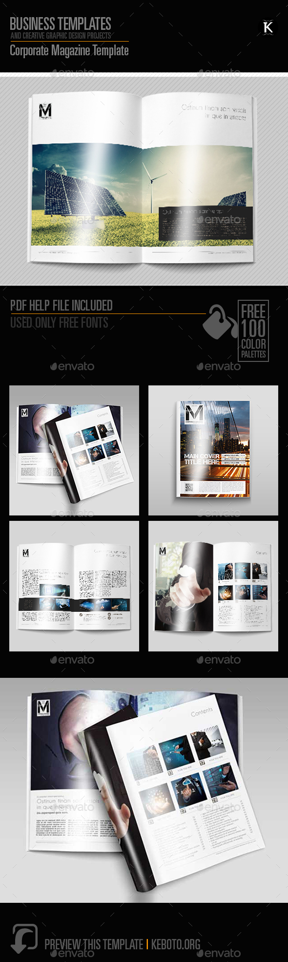 Corporate Magazine Template - Magazines Print Templates