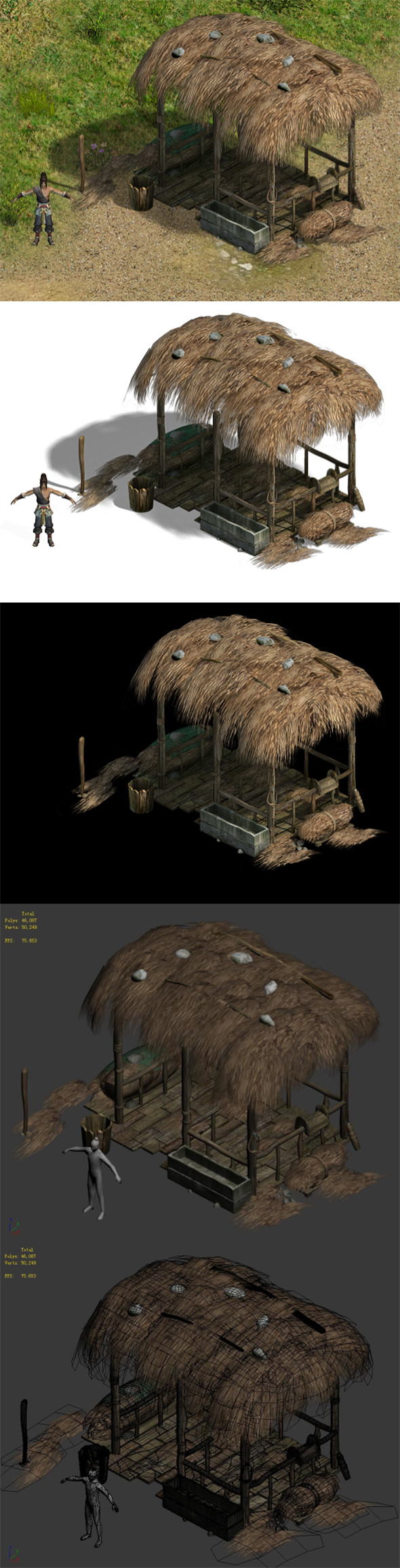 Country tribe - stables - 3DOcean Item for Sale