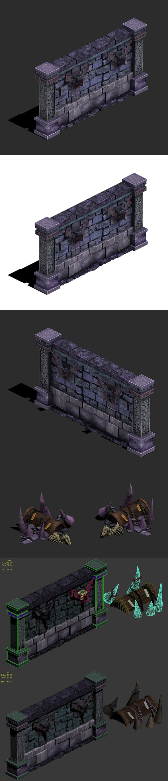 Wicked grave - wall - 3DOcean Item for Sale
