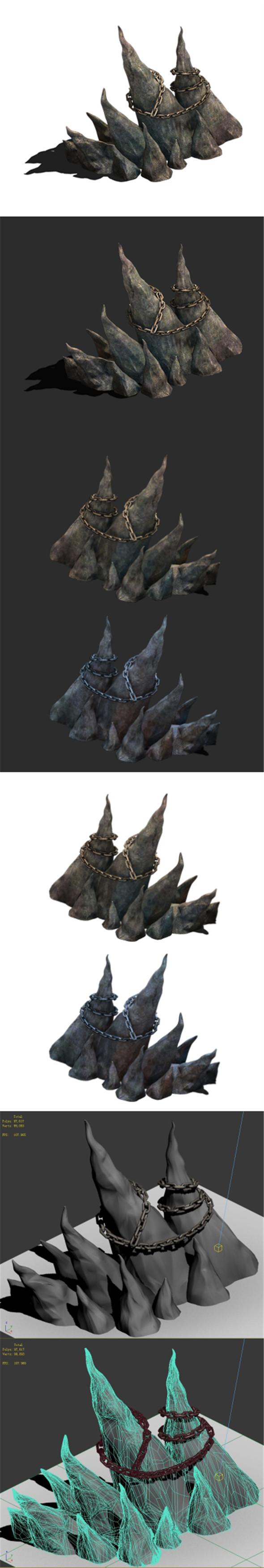 Wicked graves - stone teeth 01 - 3DOcean Item for Sale