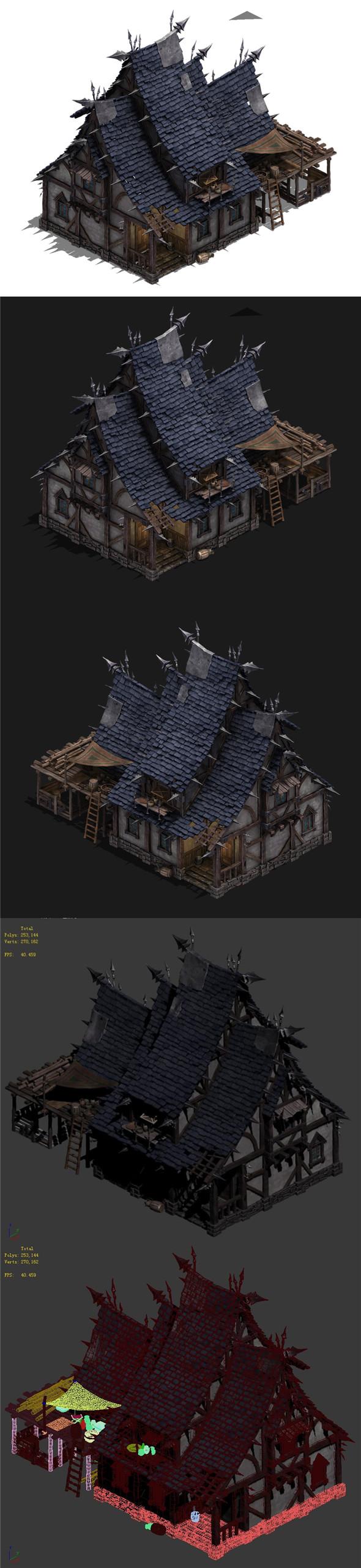 Wild - broken building - 3DOcean Item for Sale