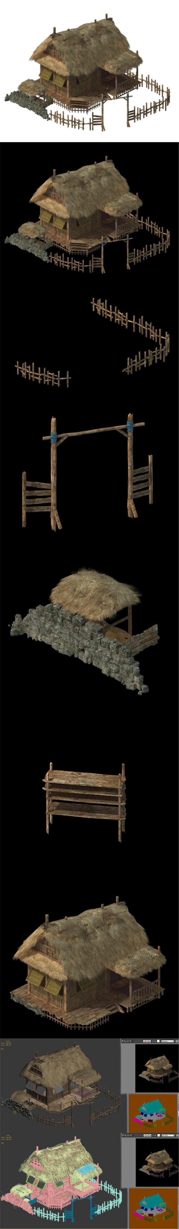 Field Hunter - Habitat Cottage 03 - 3DOcean Item for Sale
