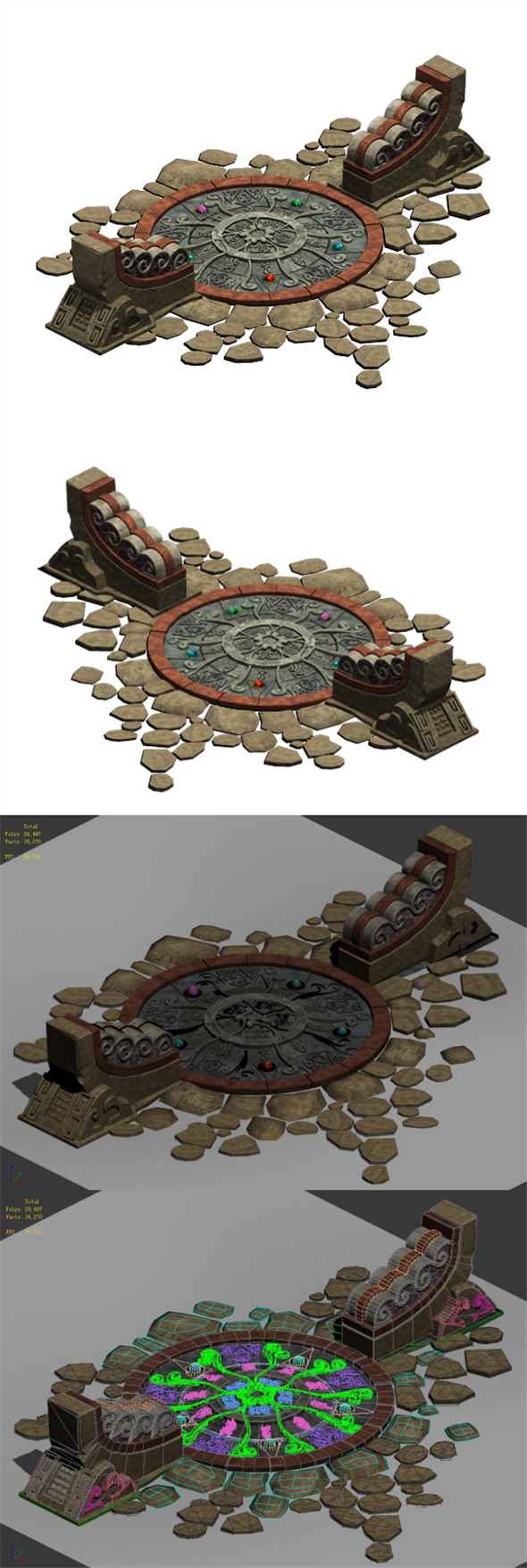 Field - round Chuansong Zhen 02 - 3DOcean Item for Sale