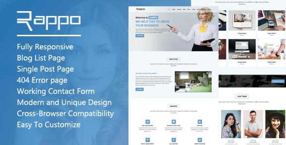 Rappo - Onepage Multipurpose HTML5 Template - Creative Site Templates