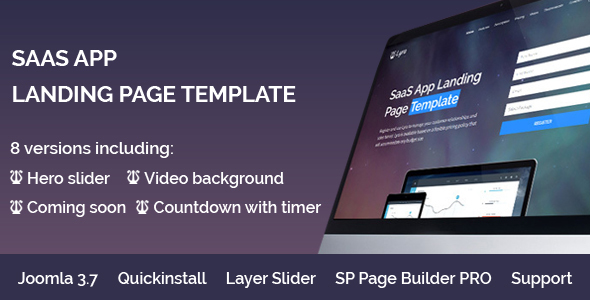 Lyra - SaaS App Landing Page Multipurpose Joomla Template with page builder