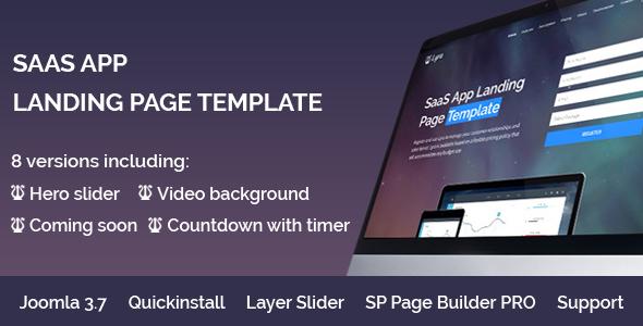 Lyra - SaaS App Landing Page Multipurpose Joomla Template with page builder - Joomla CMS Themes