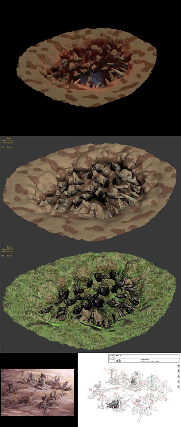 Full of teeth - cave - 3DOcean Item for Sale