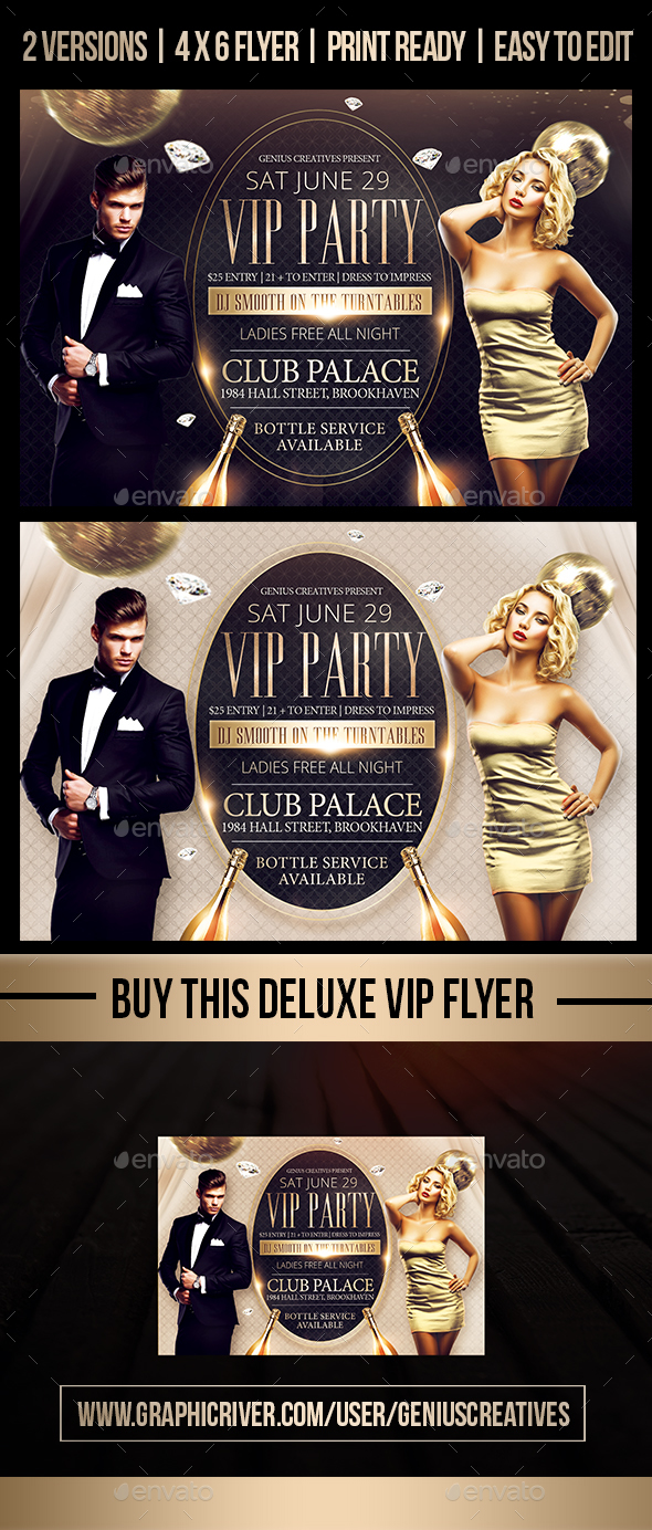 Deluxe VIP FLyer Template - Events Flyers