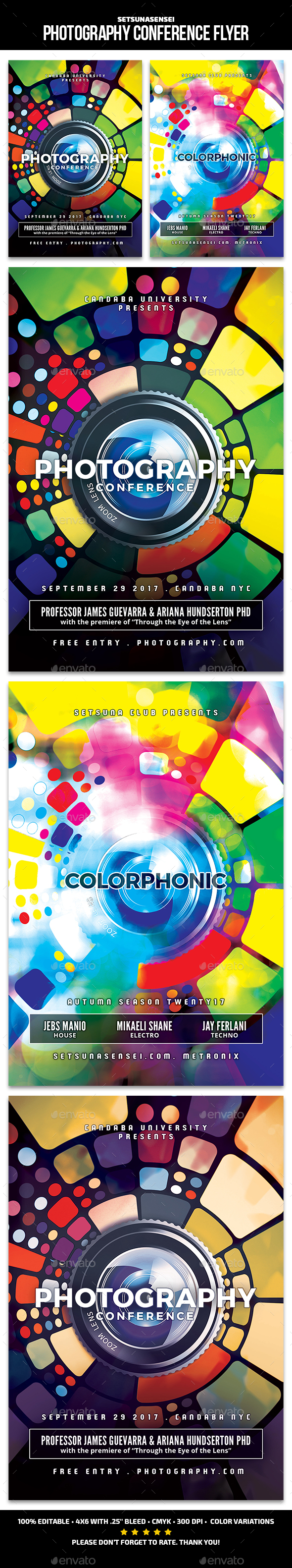 Photography Conference Flyer - Clubs & Parties Events