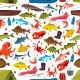 Fishes and Mollusks Fishing Vector Seamless - GraphicRiver Item for Sale