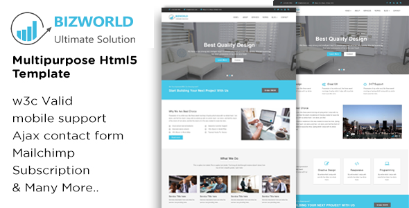 BIZWORLD - Multipurpose HTML5 Template