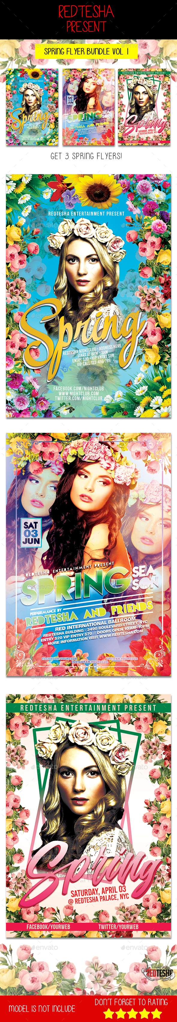 Spring Flyer Bundle Vol 1 - Events Flyers