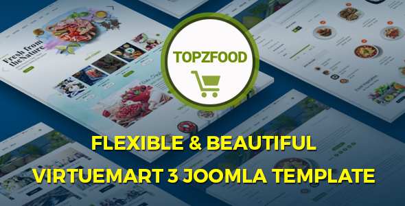 TopzFood – Multipurpose VirtueMart eCommerce Joomla Templates