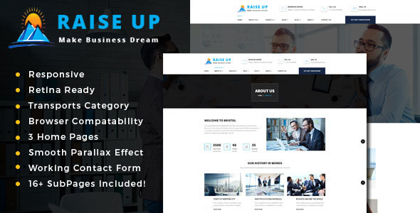 Raise Up : Business Consulting  HTML Template - Business Corporate