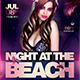 Night at the Beach Flyer Template V2 - GraphicRiver Item for Sale