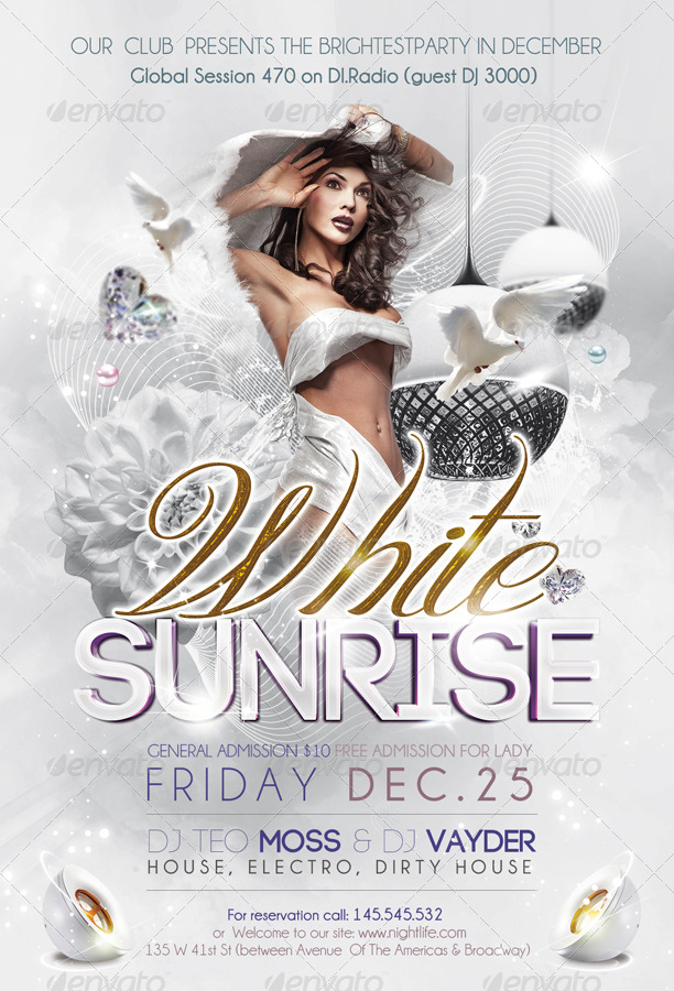 White Sunrise Flyer Psd Template By Webm Graphicriver