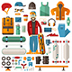 Skateboarding Lifestyle Set - GraphicRiver Item for Sale